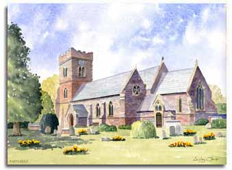 Original watercolour painting of Nettlebed, by artist Lesley Olver