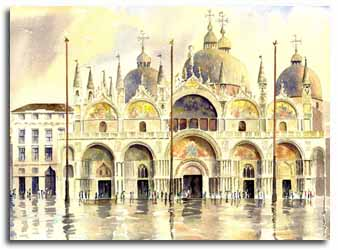 Print of Basilica san Marco by Lesley Olver