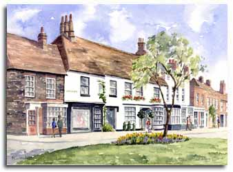 Original watercolour painting of Beaconsfield, by artist Lesley Olver