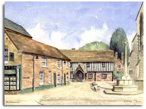 Original watercolour of Berkhamsted by artist Lesley Olver