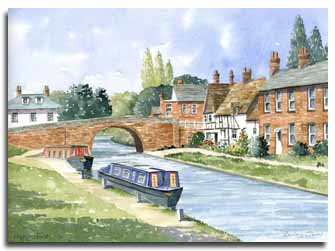 Print of watercolour painting of Hungerford, by artist Lesley Olver