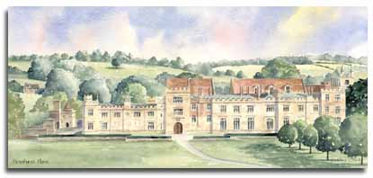 Print of watercolour painting of Penshurst Place, by artist Lesley Olver