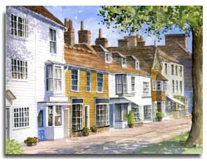 Print of watercolour painting of Tenterden, by artist Lesley Olver
