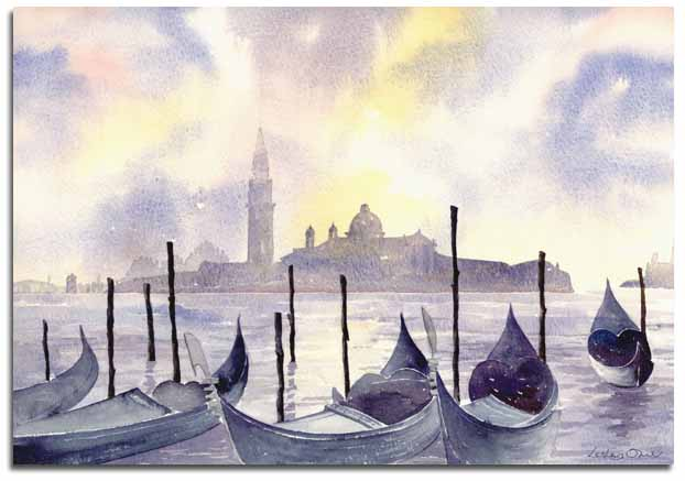 Print of Venice by Lesley Olver