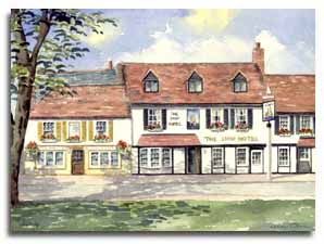 Print of watercolour painting of Weybridge, by artist Lesley Olver